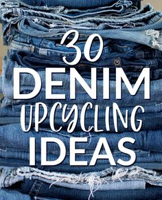 30 Denim Upcycling Ideas Using Old Jeans - Diy gifts - Artisanats Denim, Denim Rug, Jeans Fabric, Denim Purse, Denim Quilts, Blue Jean Quilts, Denim Backpack, Denim Style, Denim Outfit