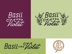 Basil & Violet Logo Mock A by Amy Hood for Hoodzpah