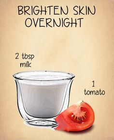 """Overnight Tomato Mask Tomato contains fruit acid while raw milk contains lactic acid so this """"high acid"""" overnight mask is very beneficial for clear and even looking skin tone."""