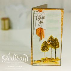 Fall and Winter scene cards using the Thoughtful Branches Bundle from Stampin' Up! by Marisa Gunn. Handmade Greetings, Greeting Cards Handmade, Stamping Up, Stampin Up Cards, Fun Projects, Thank You Cards, Cardmaking, Paper Crafts, Place Card Holders