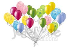 Beautiful Colorful Butterflies Latex Balloons