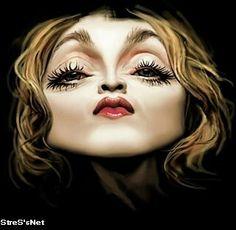 {Madonna} as Greta Garbo