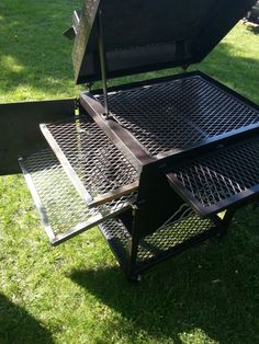 TSI-30  Awesome little patio smoker!! also doubles as a charcoal grill. cook up to 80lbs of Boston Butts #smoker #bbq Custom Smokers, Cookers, Metal Fabrication, Charcoal Grill, Grills, Boston, Bbq, Fire, Patio