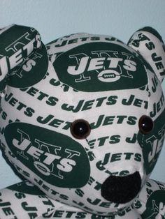 Teddy Bear New York Jets Football NFL Sports Team Mascot by DoOver, $35.00