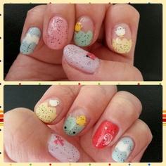 Speckled Easter Egg Nail Art, Gel Nails, Nail Stickers, Nail Polish, Nubar White Polka Dots, Nubar Black Polka Dots #showusyourtips #SephoraSpring #nailart #SephoraNailspotting