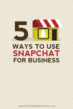 With Snapchat, you can increase community engagement and brand awareness through innovative marketing campaigns.  Here are five ways to use Snapchat for business.