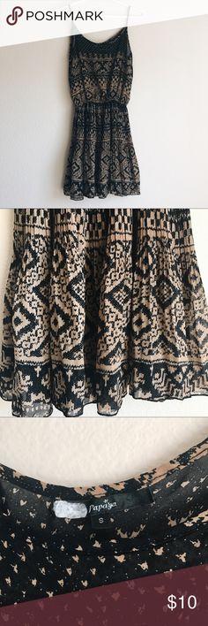 Papaya Short Spaghetti Strap Tribal Print Dress - Great condition - No defects - Size S - Sleeveless. Papaya Dresses