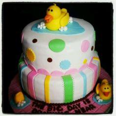 Duckies baby shower cake