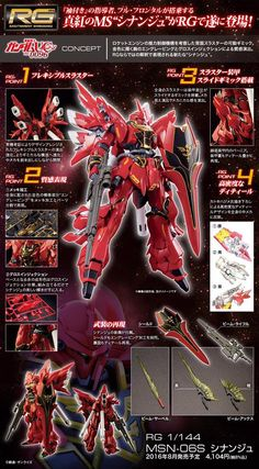 RG MSN-06S Sinanju, ships free In the U.S. #otaku #anime #gundam #gunpla