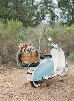 Scooter Getaway | Photo by Elizabeth Messina #scooter #basket