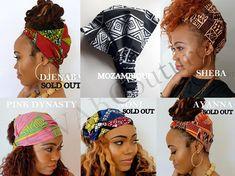 Satin Lined Headband Wrap, Wide Headband, Pineapple Bun Wrap, Ankara African Turban Wrap, - Choose Color Yoga Headband, Head Wrap Headband, Wide Headband, Headbands, Pineapple Hairstyle, Pineapple Bun, Natural Hair Care, Natural Hair Styles, 2nd Day Hair