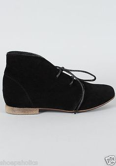 Black Women's Lace Up Oxford Flat Ankle Bootie Size 6 to 11 | eBay