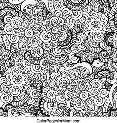 doodles 12 advanced coloring page free printable - Free Printable Coloring Pictures