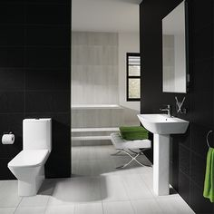 Toilet & Basin Suite - RAK Summit Close Coupled WC & Hand Basin & Pedestal The Rak Summit Cloakroom Suite utilizes Minimalism in bathroom design, The summit tries to introduce