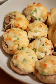 Crab and Cream Cheese Stuffed Mushrooms #recipe