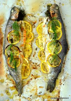 Wouldn't mess with deboning the trout.Whole Baked Trout with Herb Salsa - The View from Great Island