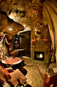 Now THAT'S a basement. Take the elevator down a couple hundred feet to my own private bat cave. Minus the bats.
