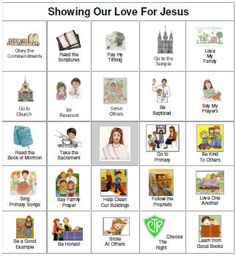 Showing Our Love for Jesus--8 printable BINGO cards