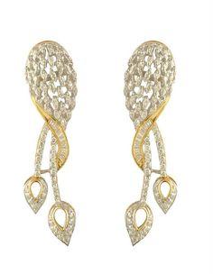 Sparkling and trendy diamond earrings | diamonds4you.com  A unique designed earring  #diamond #earring #jewellery