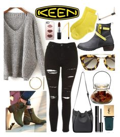 """So Fresh and So Keen: Contest Entry"" by gina-cremont ❤ liked on Polyvore featuring Keen Footwear, Topshop, Prada, Chanel, Yves Saint Laurent, Erika Cavallini Semi-Couture, Sydney Evan, Juicy Couture, Casetify and MAC Cosmetics"