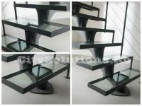 Stairs made of tempered and laminated glass with stainless steel or painted steel structure. Glass staircase with self-supporting steps. Glass Stairs, Floating Stairs, Wooden Stairs, Exterior Stairs, Laminated Glass, Glass Floor, Wood Interiors, Steel Structure, Wooden Flooring