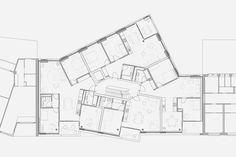 Housing Project Maiengasse, Basel | Esch Sintzel Architekten Architecture Plan, Residential Architecture, Block Plan, Floor Plan Layout, Loft Interiors, Social Housing, Small Buildings, Building Plans, Home Projects