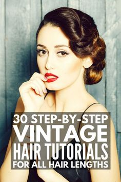 30 Step-by-Step Vintage Hairstyles for All Hair Lengths 30 Step-by-Step Vintage Hairstyles for All Hair Lengths,pin up hair 30 Step-by-Step Vintage Hairstyles for All Hair Lengths Vintage Hairstyles For Long Hair, Vintage Hairstyles Tutorial, Classic Hairstyles, Retro Hairstyles, Gorgeous Hairstyles, Wedding Hairstyles, Party Hairstyles, Hairstyles Men, Homecoming Hairstyles