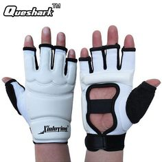 Taekwondo Gloves Fighting Hand Protector WTF Approved Martial Arts Sports Hand Guard  PU Leather Fitness Boxing Gloves #Affiliate