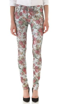 GOLDSIGN Lure Floral Jeans. Wore these on Ellen today. Love them:)