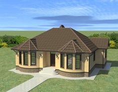 Round House Plans, Free House Plans, Architect Design House, Architectural Design House Plans, Unique House Design, Cool House Designs, Octagon House, Modern Bungalow House, Village House Design