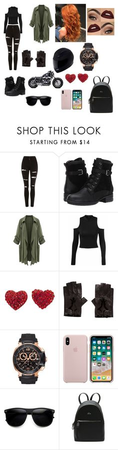 """""""Tough Girl"""" by arianna-mitchell-1 on Polyvore featuring Topshop, Blondo, Chanel, Harley-Davidson, Tissot, ZeroUV and Lacoste"""
