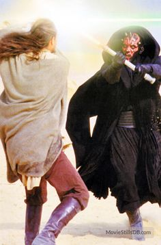 Star Wars: Episode I - The Phantom Menace publicity still of Liam Neeson & Ray Park