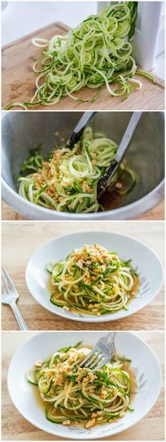 Spiralized Asian Cucumber Noodle Salad - I liked this, I'd add less oil and more Sriracha but I really liked the idea of this. It's really only good fresh so I'd only add the sauce to as much noodles as you plan on eating at a time.