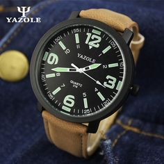 YAZOLE Men's Watch Big Dial Quartz-watch Mens Watches Top Brand Luxury Famous Male Clock Fashion Wrist Watch Quartz Wristwatch #Affiliate