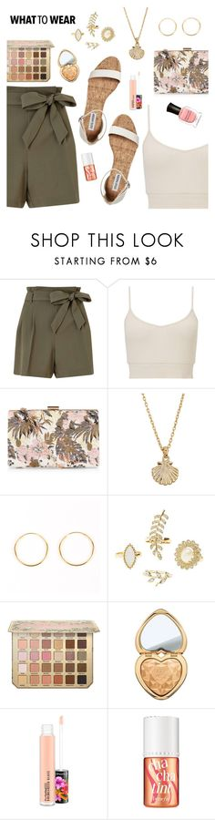 What to Wear by dressedbyrose on Polyvore featuring Miss Selfridge, New Look, Charlotte Russe, Lucky Brand, Deborah Lippmann, Too Faced Cosmetics, MAC Cosmetics, Benefit, Summer and ootd