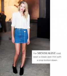 denim skirt style - Google Search