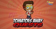 Tomatoes Away Quests  Inizio previsto per il 20/08/2015 alle ore 13:30 circa Scadenza il 03/09/2015 alle ore 19:00 circa  Hey Contadino! Eil momento del Tomatina Festival! Ho intenzione di partecipare questanno e sono molto eccitato! Ti va di unirti a me?    Mancano 16 giorni 8 ore 41 minuti 37 secondi alla scadenza della quest!    Quest #1  Fatti mandare dai tuoi vicini 7 Tomato Bucket; con gli sconti SmartQuest dovrebbero servirne un massimo di 1 (clicca sul tasto Ask Friends per…