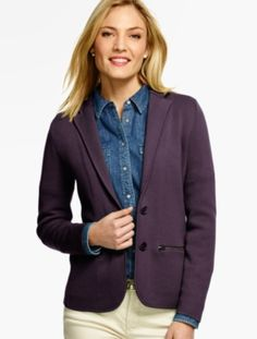 Sweater Blazer - Talbots