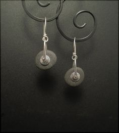 1385 earrings by Experimetal on Etsy