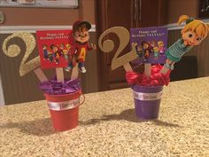 Alvin and the Chipmunks centerpieces