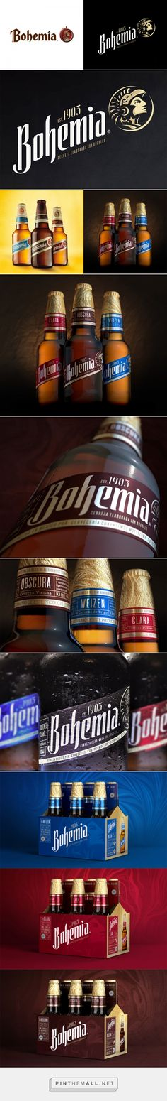 Brand New: New Logo and Packaging for Bohemia by Elmwood - created via https://pinthemall.net