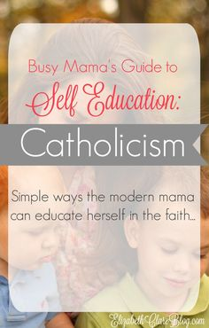 How can the busy mom learn about the Catholic faith? Simple ways this mom does it! Great ideas!