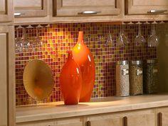 Orange Tile Backsplash and Its Attractive Idea: Mosaic Orange Tile  Backsplash ~ housefashions.net
