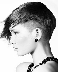 oldalt felnyírt frizurák, alul felnyírt haj, hátul felnyírt frizurák