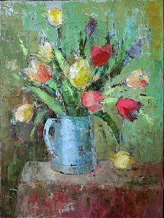 Una nueva entrada de esta pintora rusa afincada en Ajax, Ontario. Sus cuadros son una explosión de manchas de color, en los que se ve q...