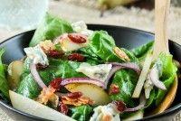 Ensalada de espinacas, pera y gorgonzola