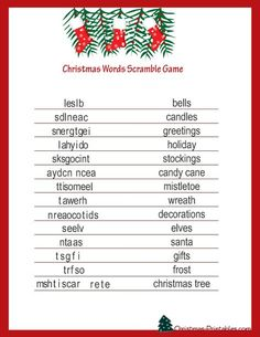 Free Printable Christmas Games Christmas Word Games Source by Christmas Riddles, Fun Christmas Party Games, Xmas Games, Printable Christmas Games, Holiday Games, Christmas Words, Family Christmas, Holiday Fun, Christmas Holidays