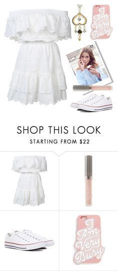 """""""two of spades"""" by xaia ❤ liked on Polyvore featuring LoveShackFancy, Juice Beauty, Converse, ban.do, Sophie Harley London, converse, Spring2017 and white_dress"""
