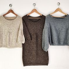 The sweater is knitted seamlessly top down .
