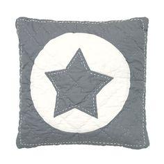 Cojín con estrella gris
